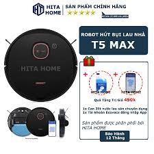 Robot Hút Bụi Lau Nhà Thông Minh Ecovacs Deebot T5 Max, Robot hut bui New  chính hãng 5,550,000đ
