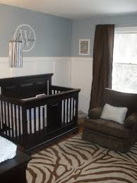 baby nursery comely black and white room decoration using light blue grey wall paint including tall wainscoting dark brown curtain in attractive i with