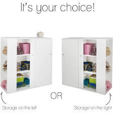 Sliding Door Dvd Cabinet South Shore Storit Kids Storage Cabinet With Sliding Doors White