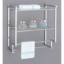 modern bathroom shelf with towel bar  home decorations  bathroom