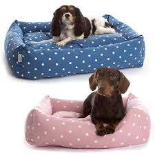 dog bed with removable cover.  With Deluxe Dotty Bolster Dog Bed In With Removable Cover L