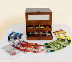 Dmc Thread Cabinet Dmc Wooden Box With 150 Skeins Of Stranded Cotton