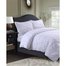sydney oversized pintuck 3 piece microfiber duvet cover set