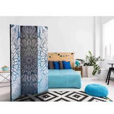 Schlafzimmer Sichtschutz Groove Mit Mandala Muster In Hell Grau Und Blau
