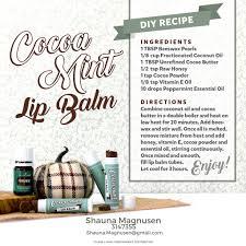 diy cocoa mint lip balm diy fall recipes young living essential oils
