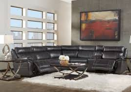 leather reclining sectional. Delighful Leather Martino Black 6 Pc Leather Power Reclining Sectional  Sectionals  Black On