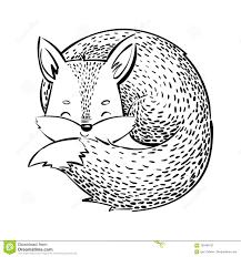 La Volpe Di Sonno Volpe Del Fumetto Su Fondo Bianco Animale