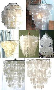 white capiz shell chandelier build a shell pendant chandelier out of wax paper west elm white capiz shell chandelier
