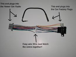 2003 cadillac deville radio wiring harness wirdig 16140051 radio wiring harness adapter new to old factory radio stereo