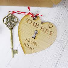 quirky valentines day gift key to my heart handmade vine design ring engraved