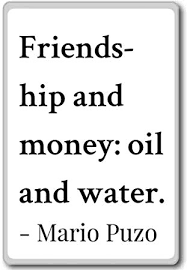 Amazon Friendship And Money Oil And Water Mario Puzo Awesome Money And Friends Quotes