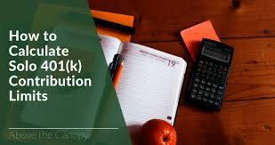 How To Calculate Solo 401k Contribution Limits Above The