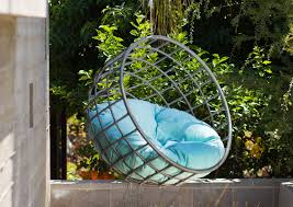 outdoor hanging furniture. Beauty Design Of The Blue Tosca Seats Ideas On Outdoor Hanging Chair With Grey Furniture N