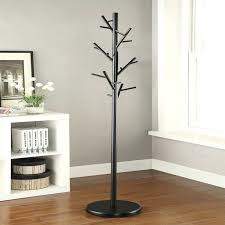 Iron Coat Rack Stand Mesmerizing Metal Coat Rack Stand A Modern Coat Rack Kings Brand Black Chrome
