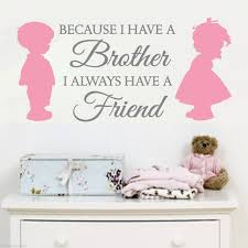 up 2 color brother sister love friends vinyl quotes wall decals stickers art home decor on brothers wall art quotes with up 2 color brother sister love friends vinyl quotes wall decals