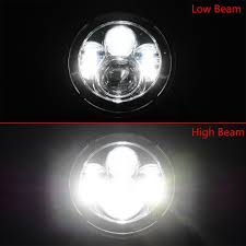 Lx Light 7 Us 29 16 50 Off Pair 7 Inch Round Led Headlights High Low Beam White Halo Ring Angel Eyes Drl Amber Turning Signal For Lada Niva Jeep Hummer In