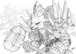 Charr Guardian Lineart By Qzurr On