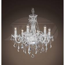gorgeous lighting crystal chandeliers maria theresa style 6 light crystal chandelier 23wx25h