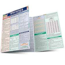 Quick Study Academic Charts Statistics Laminate Reference Chart Parameters Variables