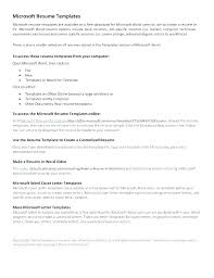 Resume Templates Microsoft Office Maker Resume Free Resume Templates