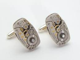 steampunk cufflinks elgin watch movements gears swarovski crystal steampunk cufflinks elgin watch movements gears swarovski crystal mens wedding accessory silver cuff links