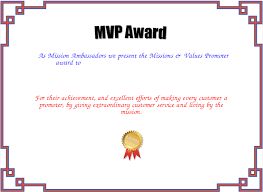 Mvp Award Certificate Created With Certificatefun Com