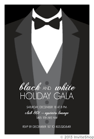 Formal Christmas Party Invitations Suit Up Formal Black Tie Holiday Party Invitation Holiday