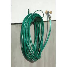 this wall mounted garden hose reel is simple but is so effective at doing its job no moving parts means it does what you want it to do your garden