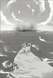 小説の挿絵7点若者と娘の冒険ファンタジー白黒の仕事依頼