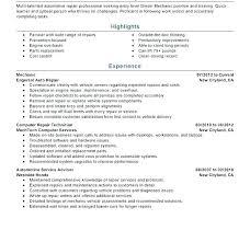 Sample Resume Auto Mechanic Diesel Technician Sample Resume Ruseeds Co
