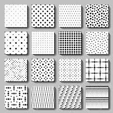 Dot Patterns Inspiration Unusual Black And White Vector Polka Dot Patterns Set Abstract