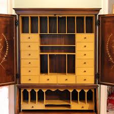 image of secretary desk hutch storange