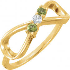 infinity mothers ring. 3 stone infinity mothers ring* ring