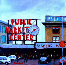 market painting public market center seattle wa by marti green
