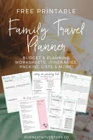 Free Travel Planner Step By Step Guide To Planning The Perfect Family Trip Our Next