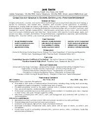 Resume Examples For Cosmetologist Cosmetology Sample Resume