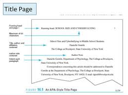 a paper in apa format co apa style research paper