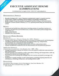 Professional Profile Resume Executive Assistant Resume With