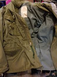 original u s army issued m 65 mens field coat
