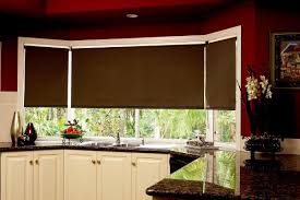 Roller Blinds For Kitchens Kitchen Installed Roller Blind In The Windows And Using Pastel