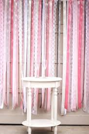 satin ribbon and lace wall decorating ideas curling wedding