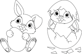 Free Easter Bunny Coloring Pages To Print Online Egg Religious