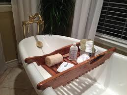Bathtub Tray Tombolo Bathtub Tray Caddy Rustic Wood Bath Tray Reclaimed Oak