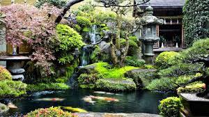 backyard koi pond waterfall garden ideas