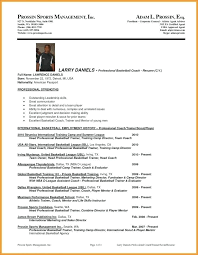 Wrestling Coach Resume Coaching Resume Template
