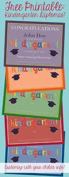 Free Printable Diy Kindergarten Diplomas Five Color Options Super