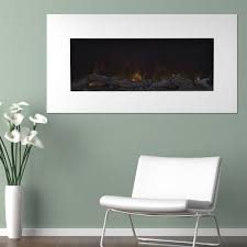 wall mount led electric fireplace with remote white