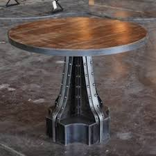 metal industrial furniture. french column table metal industrial furniture g