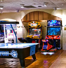 ultimate basement man cave. A Theme That Will Create Unique Appeal Is Retro Arcade Styled Gamer Man Cave. The Classy Design, With Game Room Furniture, Creates Enough Space In Ultimate Basement Cave