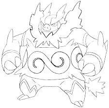 Il Pokemon Emboar Disegno Da Colorare Disegni Da Colorare E